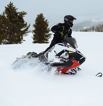 Snowmobiler at Steamboat Lake