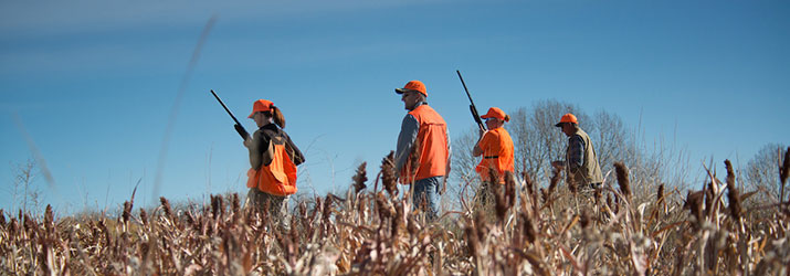 Pheasant Hunters during Women Afield Class