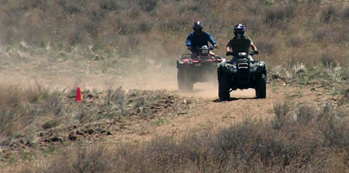 OHV Riders at Jackson Lake State Park