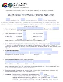 River Outfitter License Application