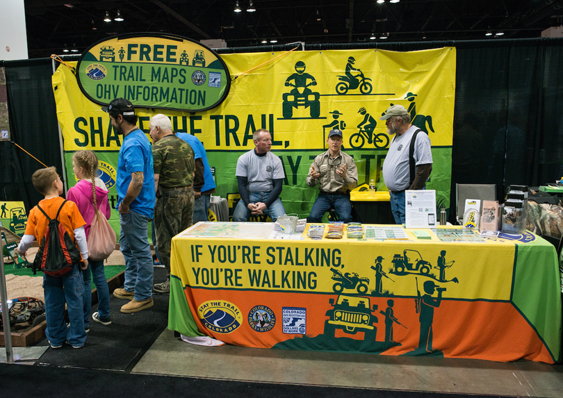 The Stay the Trail booth at the International Sportsmen's Expo.