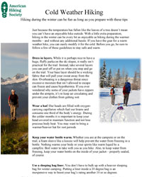 Cold Weather Hiking Guidelines Cover