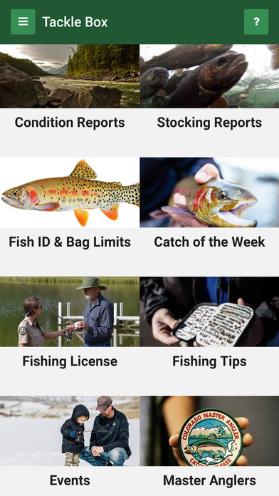 Fishing App - Tackle Box