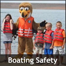 Kids in life vests during boater safety education