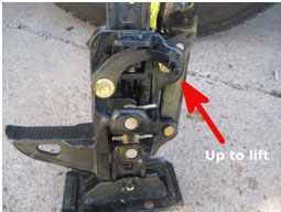 Figure 2: High lift jack ready to lift
