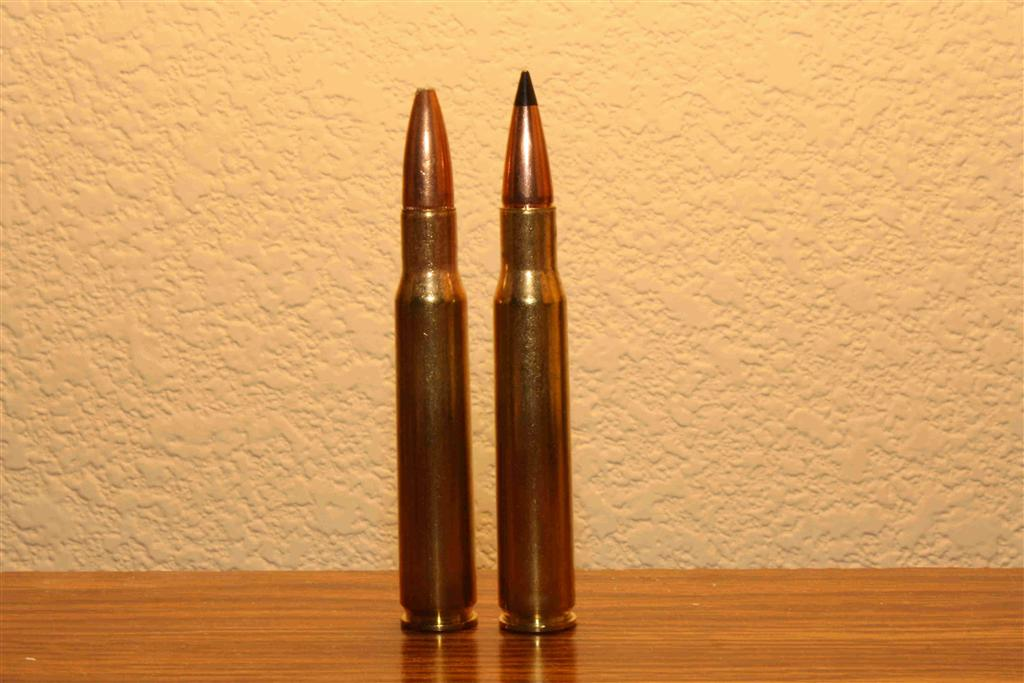 Figure 1: difference between traditional and plastic bullet tip