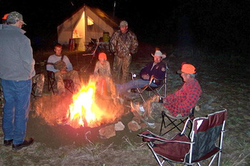 Around the campfire © J.Bulger/CPW