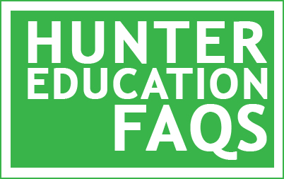 """hunter education FAQs"" button"