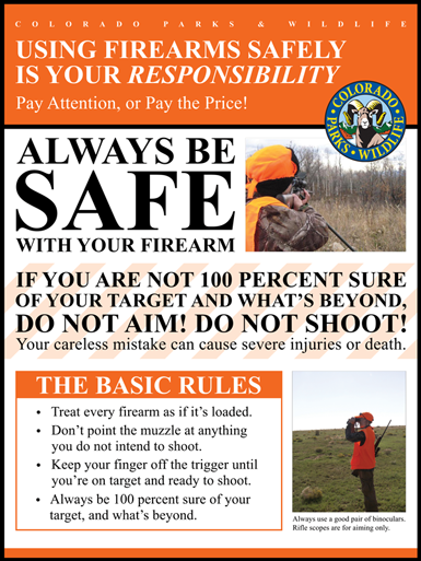 Using Firearms Safely is Your Responsibility Flyer.