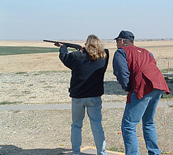 Skeet shooting instruction. Photo © Colorado Parks and Wildlife.