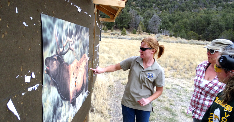 A Hunter Outreach Mentor teaches about hunting elk.