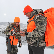 Caleb and Antonia, Winter Elk & Deer Hunt, Hunter Outreach