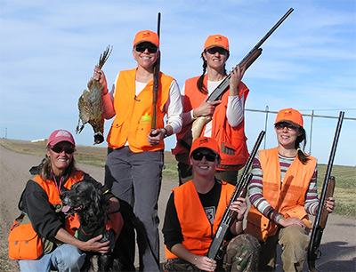 NHP Instructor Kim Foore led this successful group of women Novice Hunters on an early season hunt.