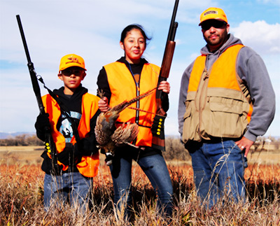 Kids and Dad participating in the Novice Hunter Program at Wellington SWA.