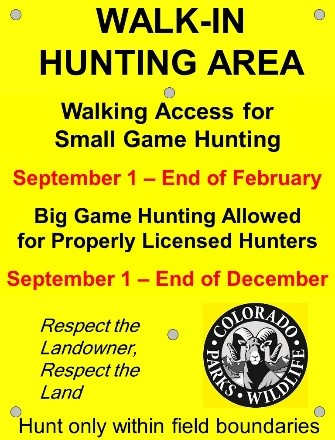 Big Game and Small Game Property Sign