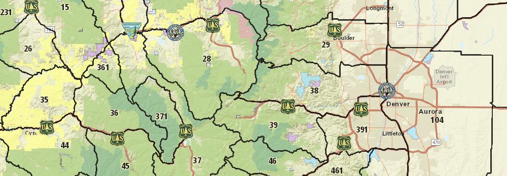 Colorado Parks Wildlife Hunt: Colorado Interactive Hunting Map At Slyspyder.com