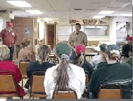 Jim Bulger teaching a Youth Hunter Program course
