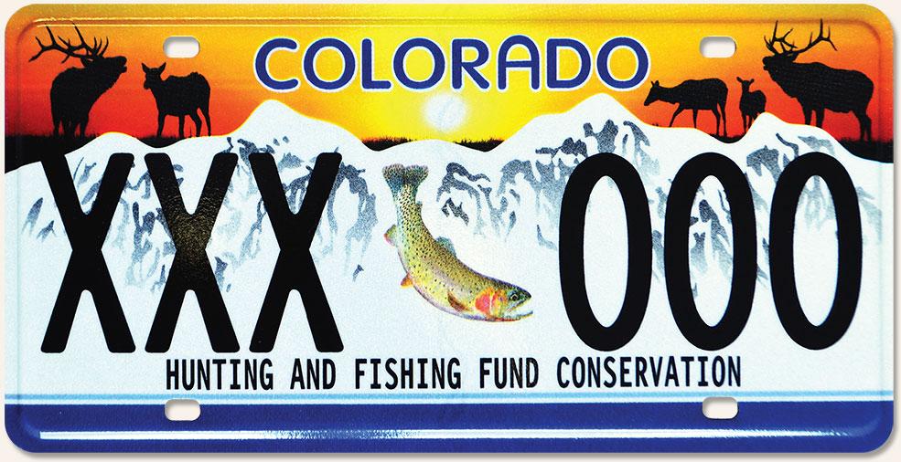 Colorado Parks & Wildlife - Wildlife Sporting Plate