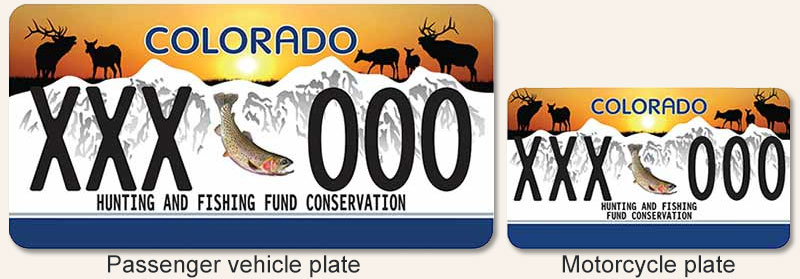 Colorado parks wildlife wildlife sporting plate for Colorado fishing license fees