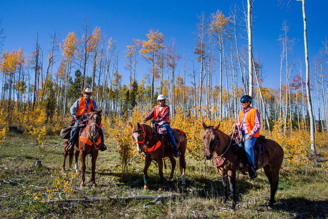 Horseback riders at State Forest State Park.