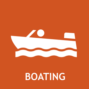 Motorized and non-motorized boating information.