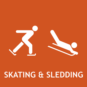 Ice skating and sledding.