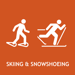 Cross country skiing and Snoeshoeing information.