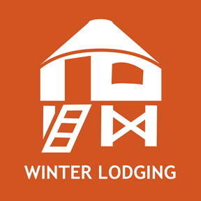 Winter lodging for cozy vacations, hut trips, etc.