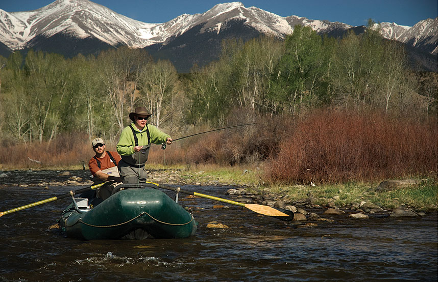 River rafting and flyfishing