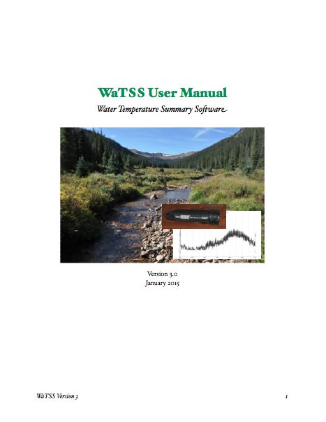Cover of WaTSS manual