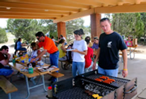 Grilling at Group Picnic Area
