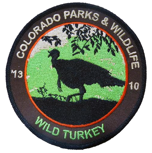 CPW's limited edition collectible wild turkey patch.