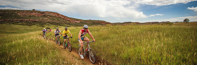 Mountain Bikers at Lory State Park.