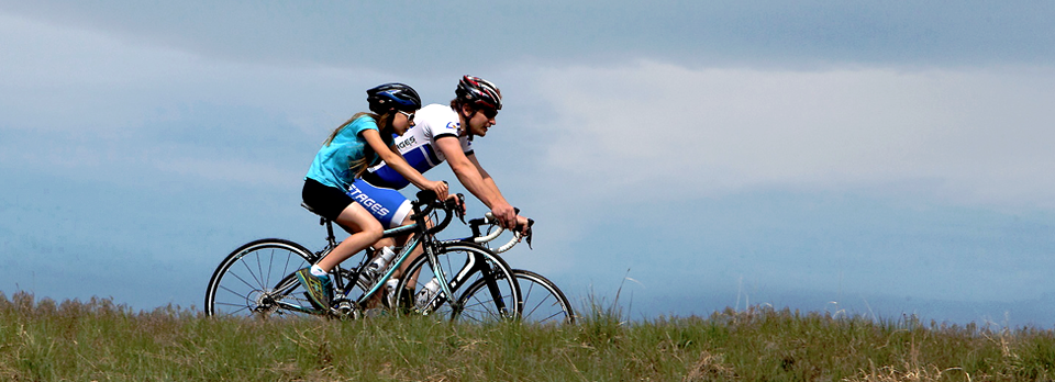 Cyclists at Chatfield State Park. Photo by Ken Papaleo.