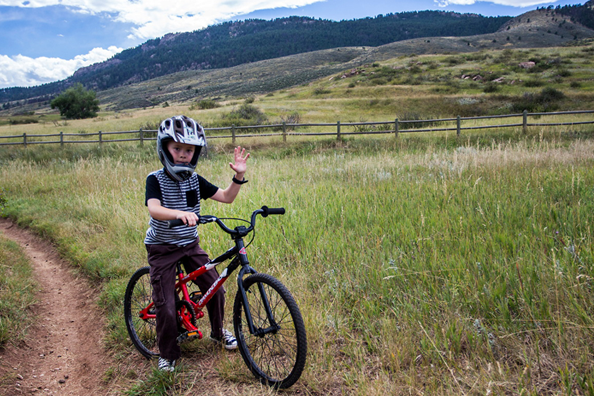 A child takes a break from trail riding at Lory State Park. Photo by Verdon Tomajko.