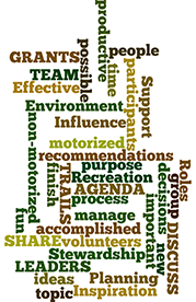 Meetings Wordle graphic