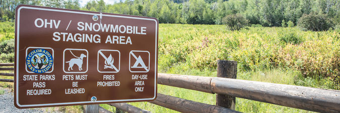 OHV Sign State Parks Pass Required