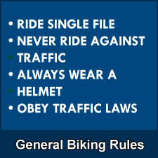 General rules for bike use.