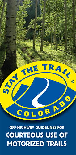 Stay The trail Courteous Trail Use