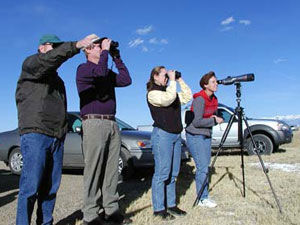 Monte Vista People watching cranes at Monte Vista NWR during Crane Festival 2003