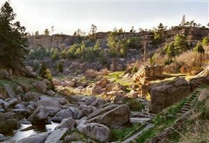 Castlewood Canyon's stairway to nature. By Taryn Bays.