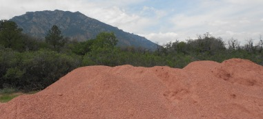Mountains of crusher fine