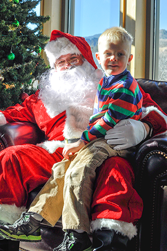 Santa with young boy