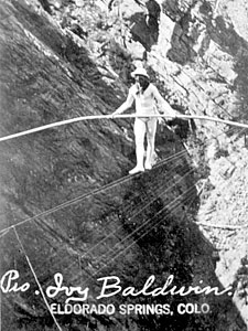 Eldorado Canyon Ivy Baldwin Tightrope Walk