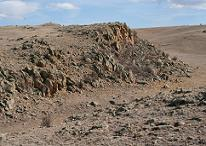 Wall mountain tuff formation