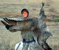 Trystin Piper with Sandhill Crane
