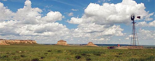Shortgrass Prairie surrounds nearby Pawnee Buttes