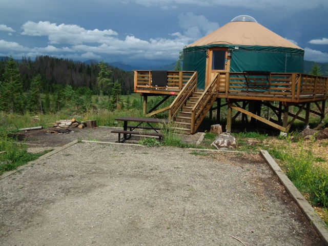 elevated yurt
