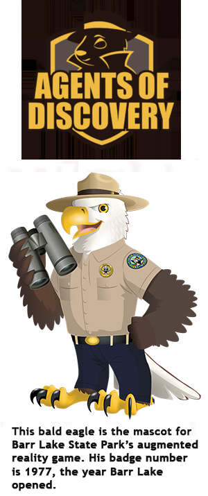 Augmented Reality Barr Lake Mascot - a Bald Eagle