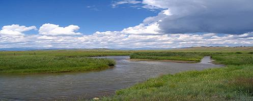 South Platte River upstream